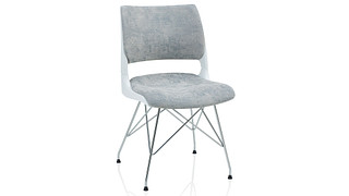 Doni Guest Chair   Wire Tower with Solid Shell (Upholstered Seat & Back)