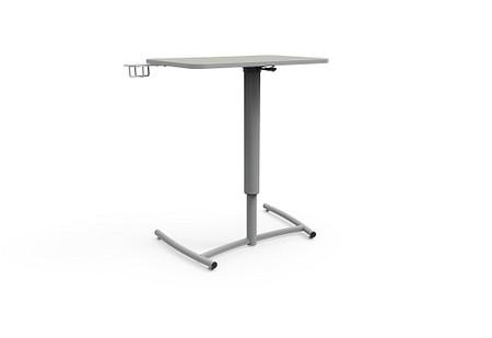 Ruckus desk adj pneumatic glides cupholder