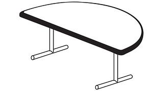 Barron Tables | Half Round Top (Fixed/Folding Leg)