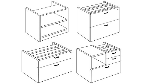 Modular Storage (Lateral, Multifile, Open, Low)