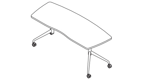 Swash Top (Fixed/Pin-Height Adjustable Leg)