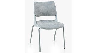 Doni Stack Chair | 4-Leg with Solid Shell (Upholstered Seat & Back)