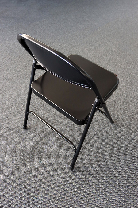 Series FoldingChair Steel BlackBack