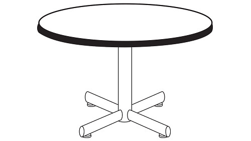 Round Top (Fixed/Folding Leg or Flip-Top)