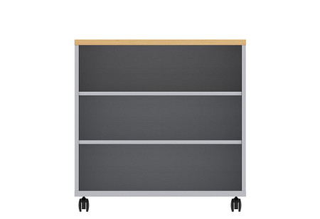 Ruckus SF bookcase 3636 casters front