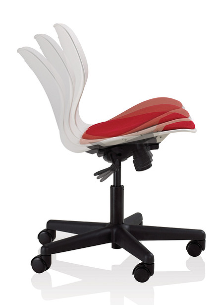 Wave task tilt motion 1 uph seat armless