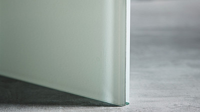 "Glass | 1/2"" White Laminate, 10% Opacity"