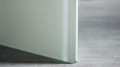 "Glass | 1/2"" White Laminate, 10% Opacity"