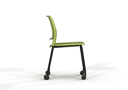 Grafton-4-leg-castors-Grass-Green-Black-frame-03