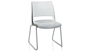 Doni Stack Chair | Sled Base with 2-Tone Shell (Upholstered Seat)