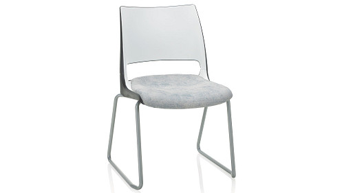 Sled Base with 2-Tone Shell (Upholstered Seat)