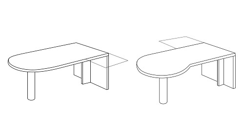 P-Top or D-Top Desk