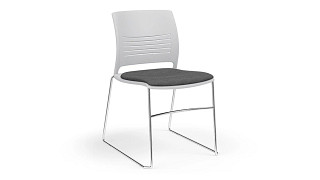 Strive High Density Stack Chair | High Density Stack Chair with Upholstered Seat