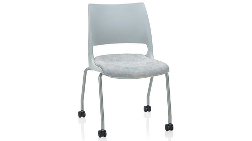 4-Leg with Casters with Solid Shell (Upholstered Seat)