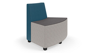 "MyPlace Lounge Furniture | 45° Outside Back Curve (32"", 48"" or 60"")"