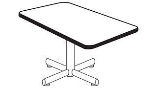 Portico Tables | Rectangular Top (Fixed/Folding Leg or Flip-Top, w/optional Modesty Panel and w/optional Power)