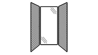 WiggleRoom | Steel Exterior Panels; Interior Panels: Left-Fabric Rear-Glass Right-Fabric