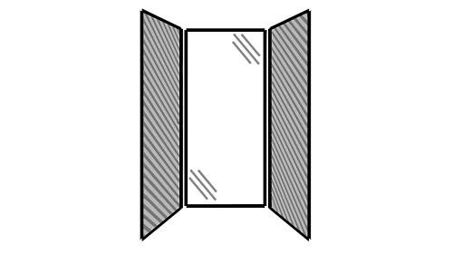 Steel Exterior Panels; Interior Panels: Left-Fabric Rear-Glass Right-Fabric