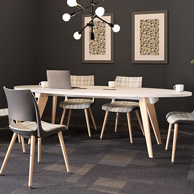 Connection Zone Wood Leg Conference Tables