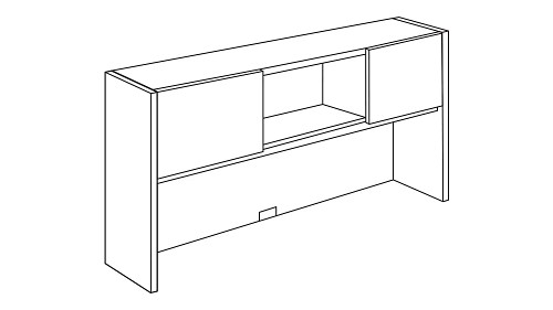 Surface-Mount Hutch with Sliding Door