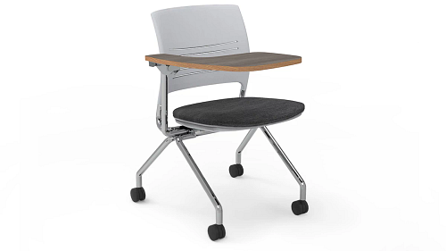 nesting uph tablet arm chair - flip up
