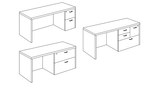 Credenza with Pedestal, Lateral or Multifile