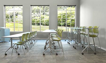 classroom tiered profile Grazie Trek