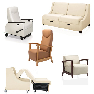 Soltice Wood Healthcare Seating CAD Symbols