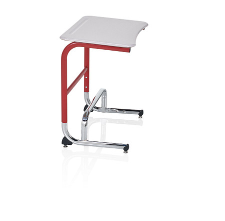 Wave desk sitstand low profile footbar