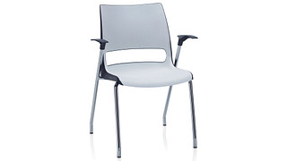 Doni Stack Chair | 4-Leg with 2-Tone Shell (Poly)