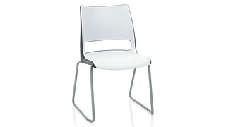 Doni Stack Chair | Sled Base with 2-Tone Shell (Poly)