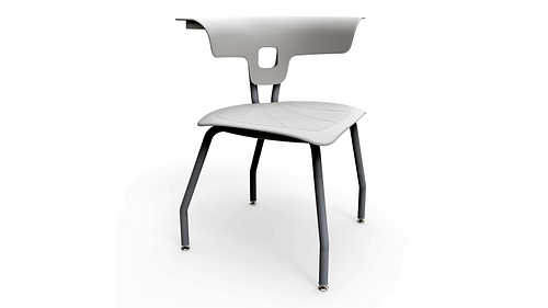 4-Leg Chair, Poly Seat