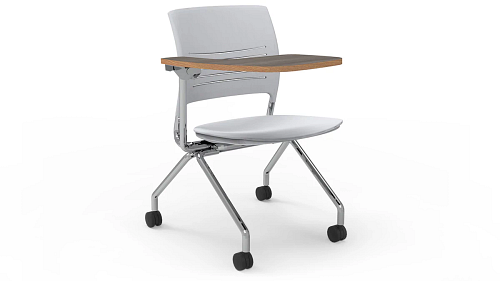 nesting poly tablet arm chair - flip up