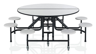 CafeWay Cafeteria Tables | Round Table with Stools