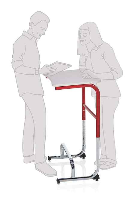 Wave desk sitstand positionA