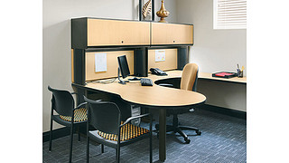 WorkZone Desking System | Overhead Cabinet with Laminate Door