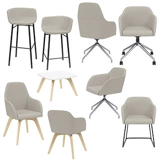 Calida Lounge Furniture Revit Symbols