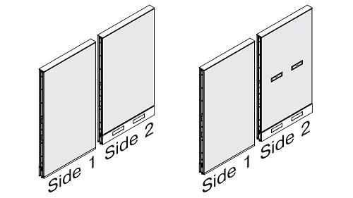 Monolithic Fabric Panel - Tile to Floor Combo Base (optional Beltway Power)
