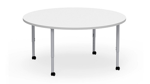 Round, Sit Height Adjustable