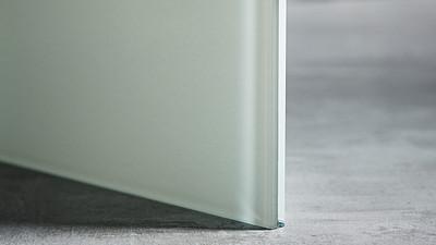 "Glass | 3/8"" White Laminate, 10% Opacity"