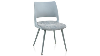 Doni Guest Chair | Tapered Steel Leg with Solid Shell (Upholstered Seat)