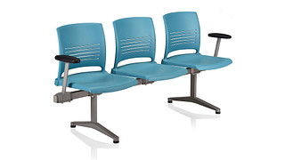 Strive Tandem Seating | 3 place unit - poly