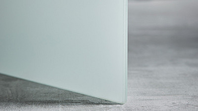 "Glass | 1/4"" White Laminate"