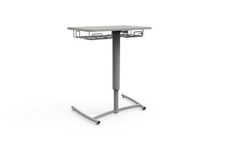 Ruckus desk adj pneumatic glides bookrack