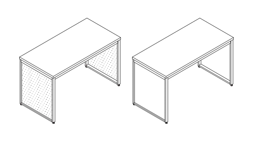 Worksurface - Freestanding Tables (Open or Insert Legs)