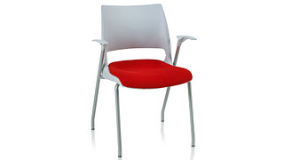 Doni Stack Chair | 4-Leg with Solid Shell (Upholstered Seat)