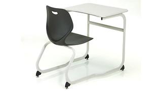 Intellect Wave Desks | Double-Entry Poly Desk