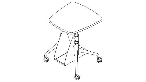 Monitor Top (Pin-Height Adjustable Leg, w/optional CPU Holder)