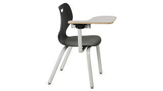 Intellect Wave Chair | Poly Chair with Tablet Arm