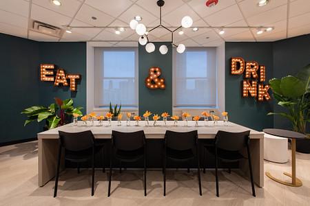NeoCon2019 CafeArea SerenadeTable KateraChairs C-Table